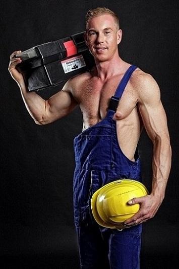 Stripper Vince aus Bauarbeiter buchen.