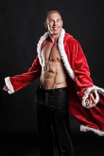 Stripper Vince als Weihnachtsmann